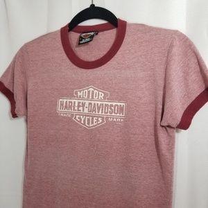 Harley-Davidson Ringer T-shirt Red